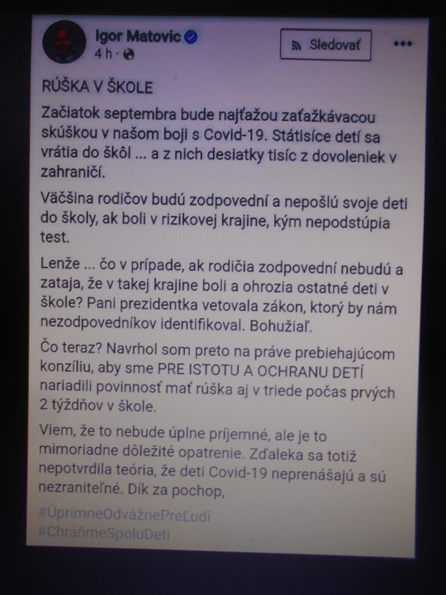 Zdieľal: poslanec NR SR Milan Mazúrek