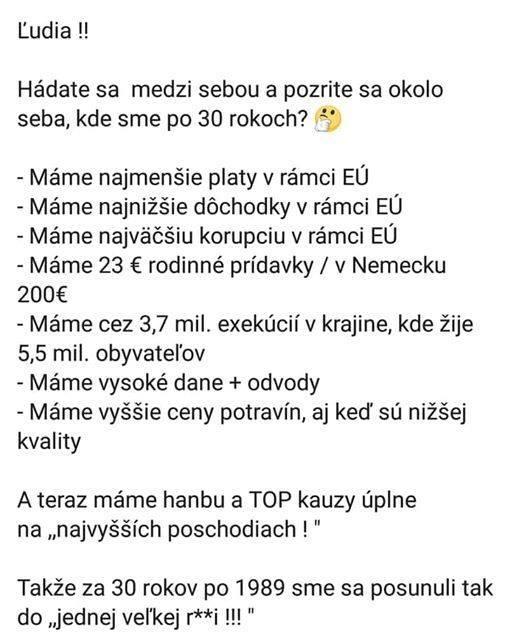 Posledná veta hovorí za všetko... Ešte stále si Matovič myslí, že jeho vláda je najlepšia, akú Slovensko malo doposiaľ?