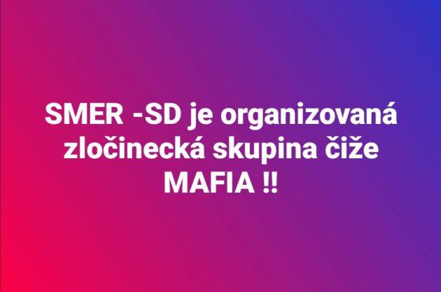 Zdroj facebook - STOP Smeráckej MAFII!