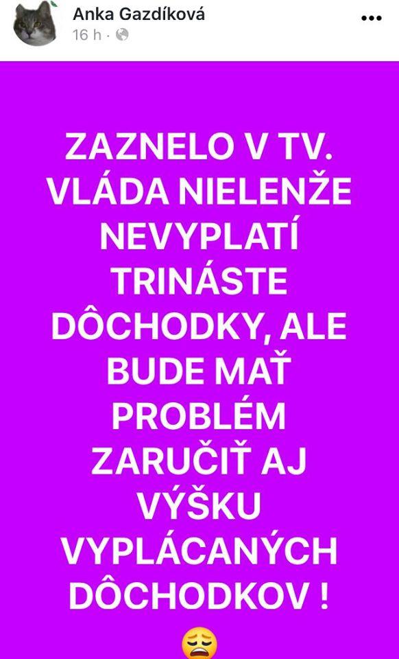 Zdroj: fb Aspoň sa bude načo vyhovoriť...