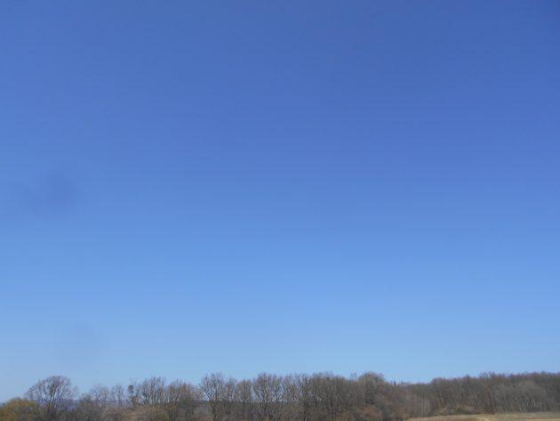Pohľad na západnú oblohu