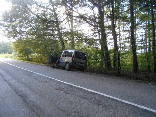 Nešťastný účastník nehody.