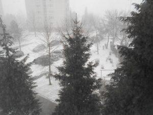 Taký pohľad z okna nebol ani v decembri
