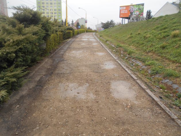 Po vyfrezóvani asfaltu...
