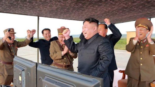 Kim Čong-un a jeho generáli Foto: TASR/AP
