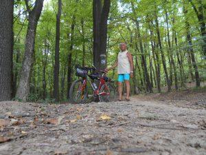 Cyklistický chodník z KVP na Bankov.