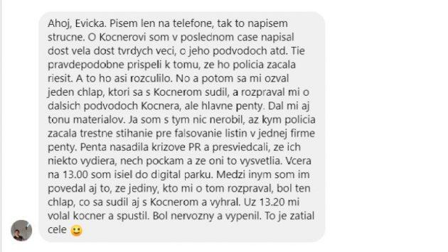 Ospravedlňujem sa čitateľom, ale táto Kuciakova správa mi pripadá ako jeho rozlúčka so životom pred jeho popravou. :-(